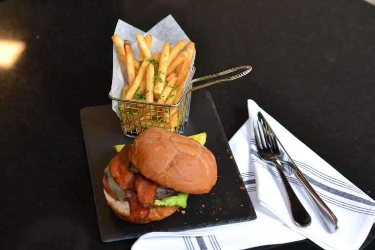 The union menu is featuring with the best burger and french fries in McLean
